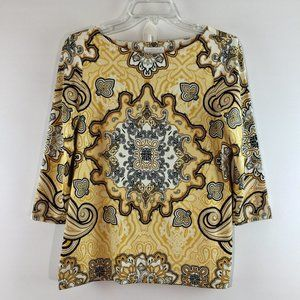 Charter Club designer print long sleeves top